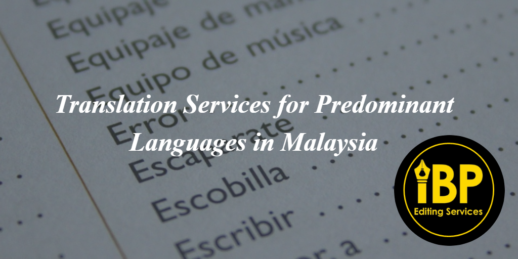 Translation Services | IBP Editing Services